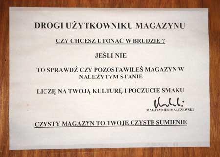 magazyn sumieniem