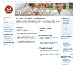 Strona główna witryny WNoZ